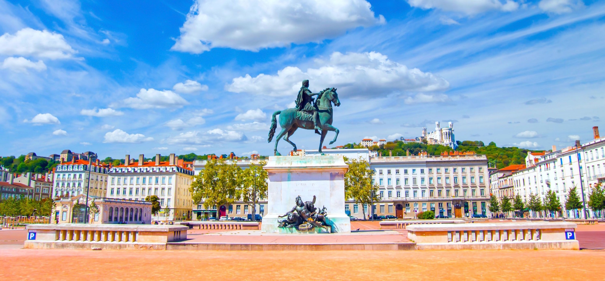 Place Bellecour à Lyon, France