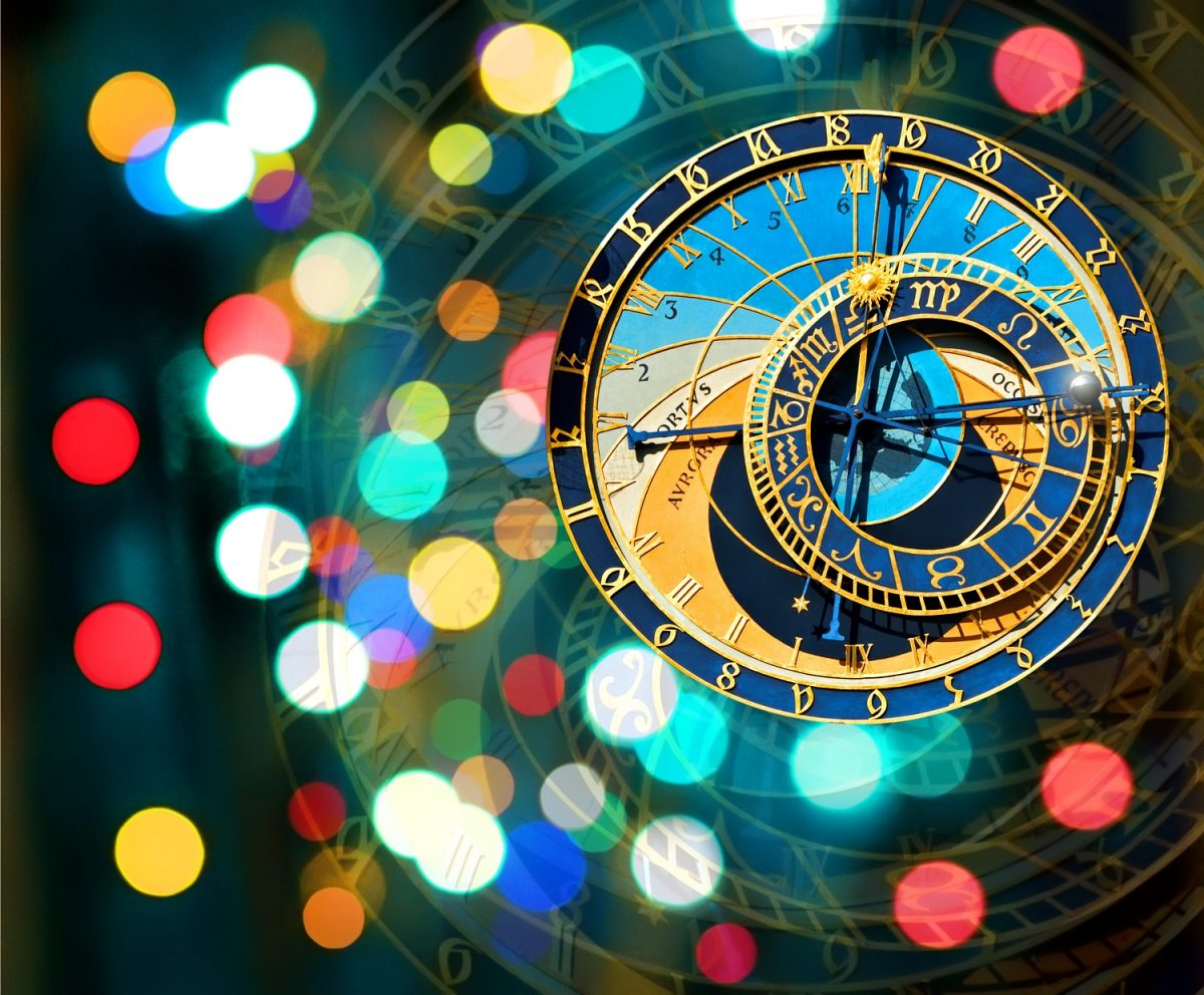 Clocks in Europe New Year's Eve