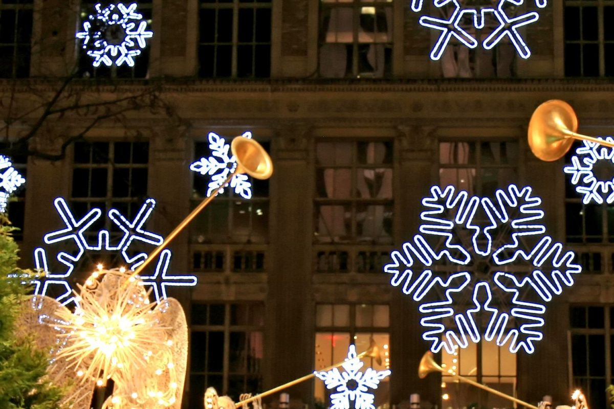 holiday displays in New York
