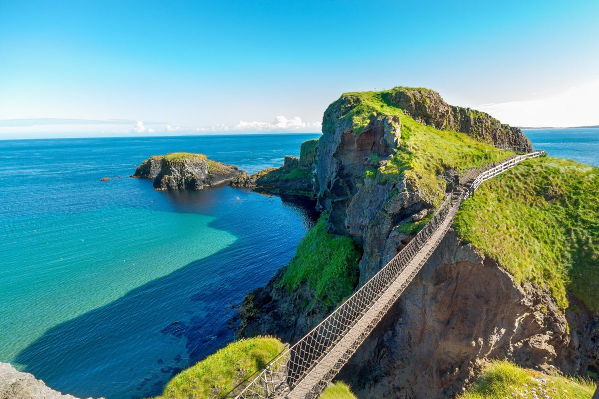 Carrick-a-Rede rope bridge on the Causeway Coastal Road Trip