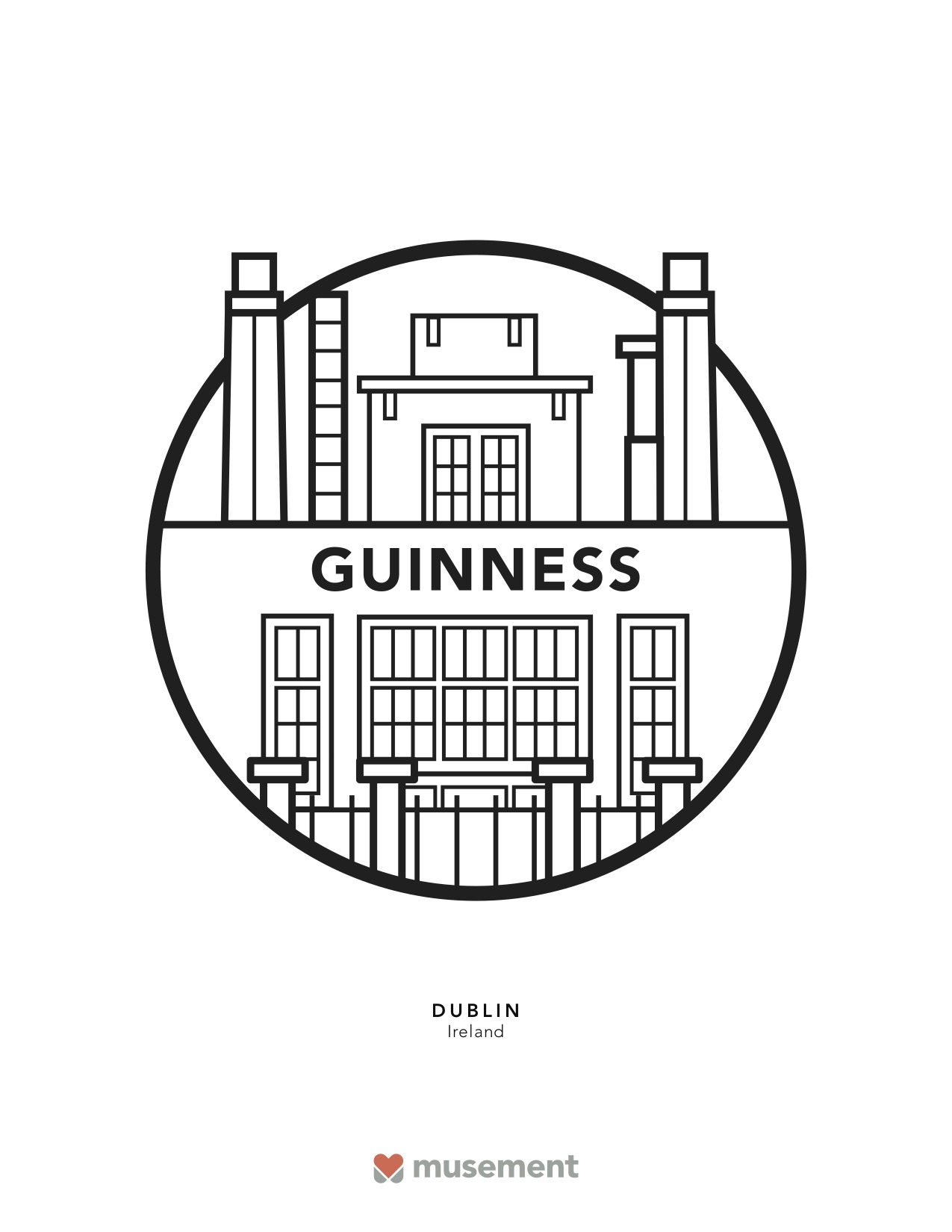 Musement travel coloring book Dublin