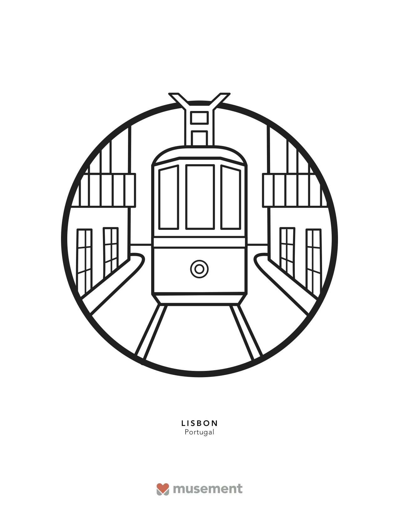Musement travel coloring book Lisbon