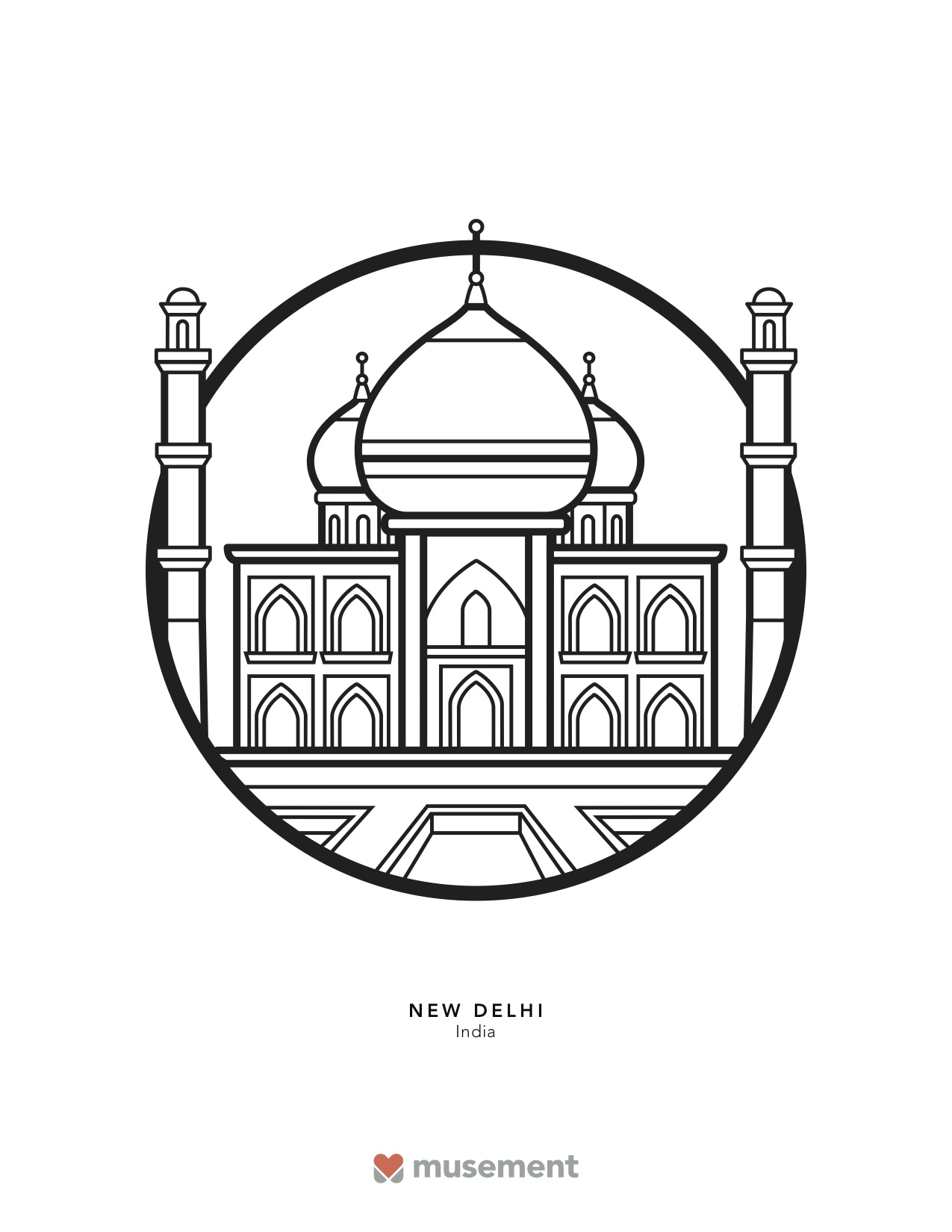Musement travel coloring Book Delhi