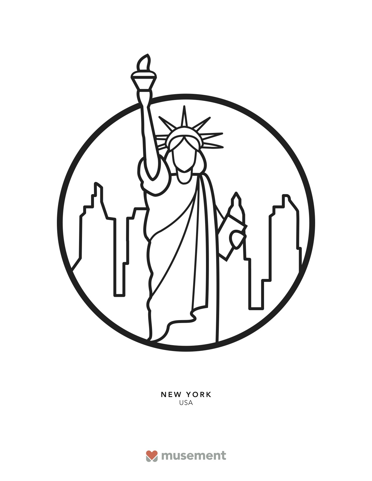 Musement travel coloring book New York