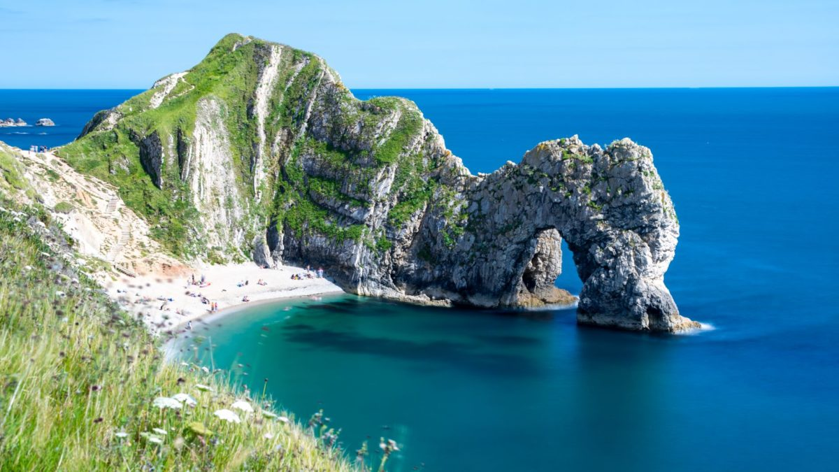 Durdle Door Beach in England