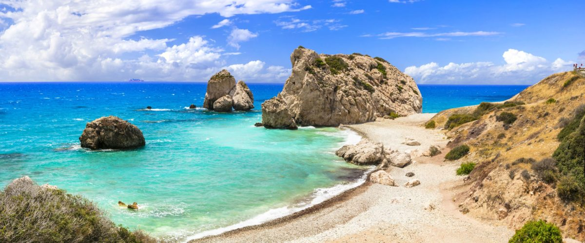 Best beaches in Cyprus - Petra tou Romiou, famous as the birthplace of Aphrodite