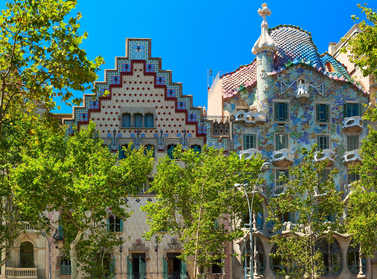 voorgevel van Casa Batlló in Barcelona